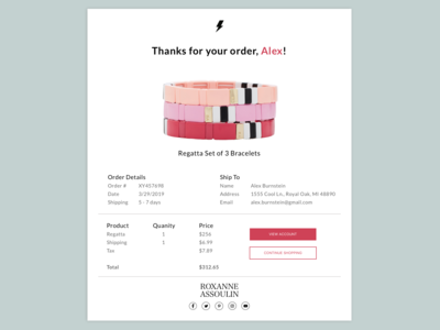 Daily UI // Day 017 // Email Receipt