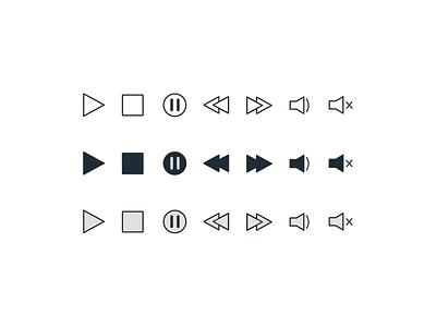 Daily UI // Day 055 // Icon Set icon set illustration ux branding typography minimal ui design vector