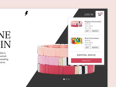 Daily UI // Day 058 // Shopping Cart dailyui web ux branding typography minimal ui design vector