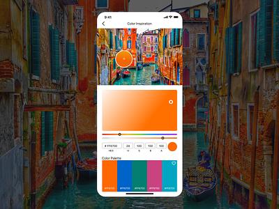 Daily UI // Day 060 // Color Picker dailyui app ux branding typography minimal ui design vector