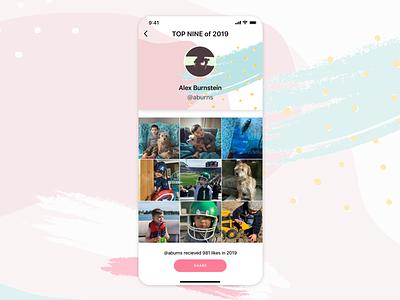 Daily UI // Day 063 // Best of 2019 dailyui app ux branding typography minimal ui design vector