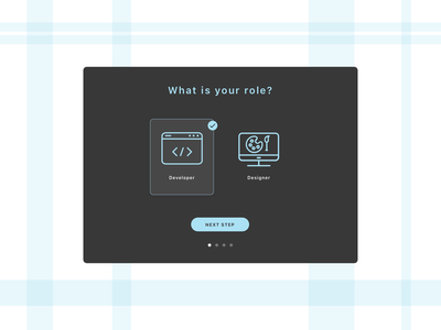 Daily UI // Day 064 // Select User Type web dailyui ux branding typography minimal ui design vector illustration