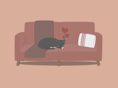 Weekly Warm-Up #5: Kitty Couch Snoozes
