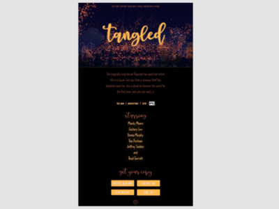 XD Daily Creative Challenge #1: Movie Landing Page
