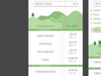XD Daily Creative Challenge #2: Tree Savings App money app personal finance savings xddailychallenge xd ui figma