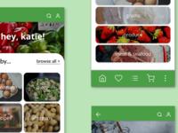 GoodMarket - Grocery Store Ecommerce App prototypes grocery app ecommerce design ui graphic design figma