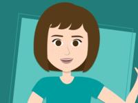 Portrait of a Designer vector female woman person designer girl portrait design graphic design figma illustration