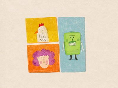 They have a secret cartoons chicken characters procreate illustration