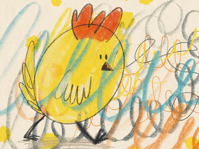 Abriendo paso... procreate illustration sketch cartoon chicken