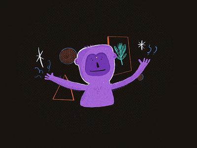 Maestro Alquimia alchemy magic monkey characters procreate sketch cartoon illustration