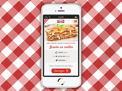 Recipe mobile app app mobile web pasta