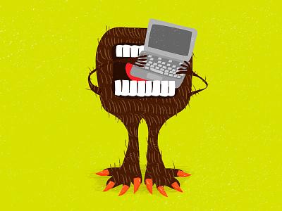 Tech monster computer print monster kids illustration creature cartoon boogfoot