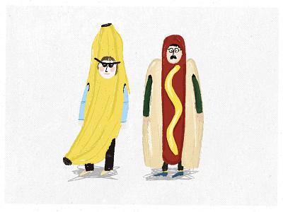 Our fav costumes hotdog banana costume costume party costume characters cartoon banana