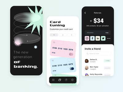 Daily UI Day #33: Customize Product social media design app branding 2021 uxdesign graphic design flat credit cards customize product cards ui design ux daily ui 033 daily ui