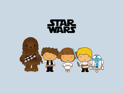 Star Wars character design graphic art design cute vector illustration starwars