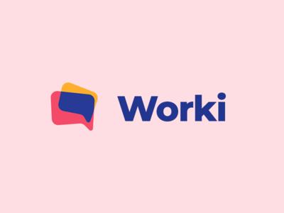 Worki logo identity branding logo