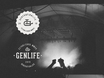 GenLife Branding  outdoors monogram vintage handmade brand branding church texture stamp youth group badge logo