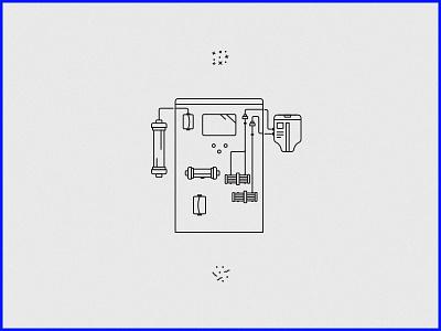 robots_jpg robot star wars medical line mono art machine line art illustration