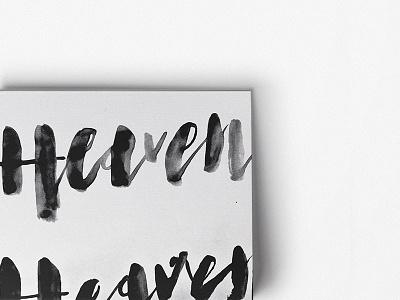 J26 - TYPE EXPLORATION texture watercolor brush print poster typography handtype type
