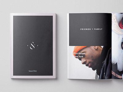Friends & Family Identity hypebeast shoe monogram zine magazine booklet identity branding