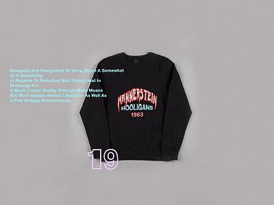 HH83 hammerstein hooligans fashion design garment