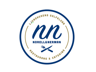 NN Logo logo logotype restaurant catering knive fork monogram badge