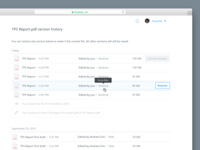 File Version History on Dropbox