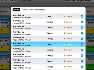 iPad flow for JP Morgan ipad