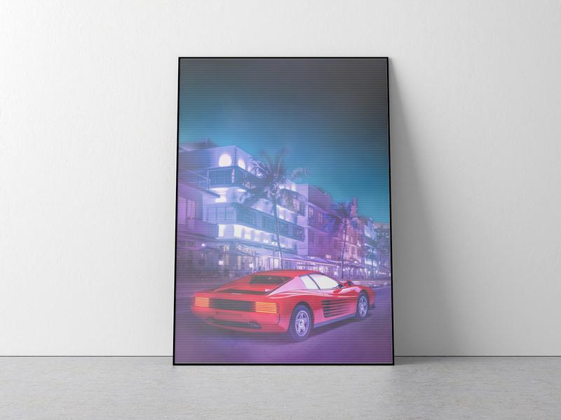 Miami Vice Style Poster