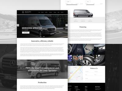 Mercedes Sprinter Website Layout