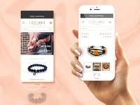 Mobile Website For Jewelry Shop