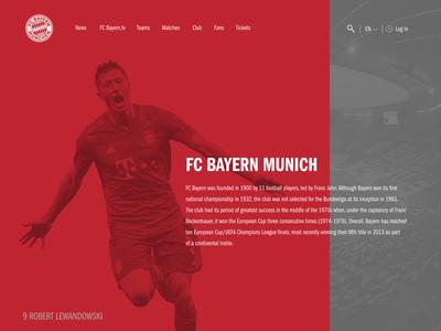 FC Bayern Munich Landing Page Prototype