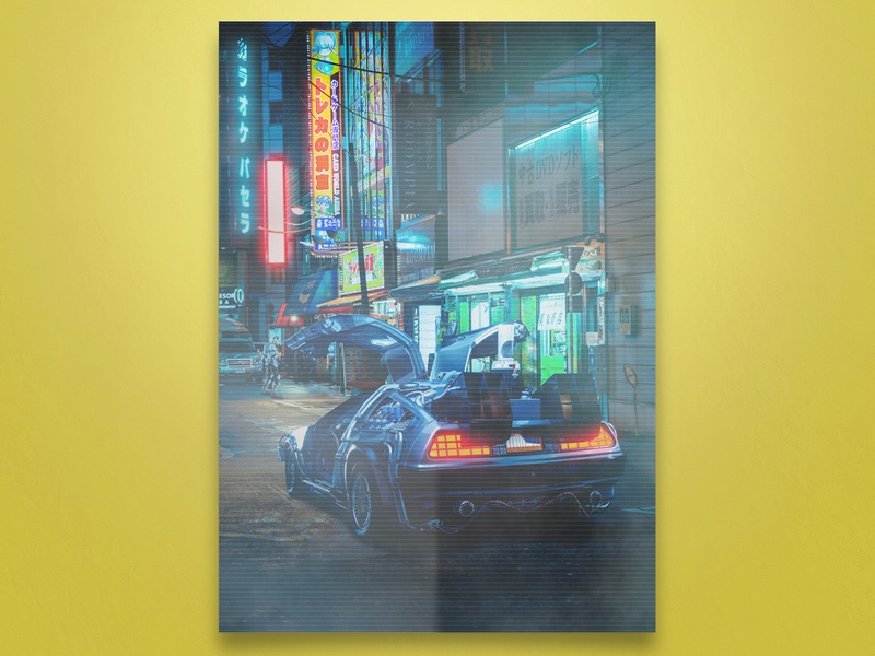 Cyberpunk streets of Tokyo