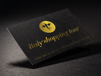 Italy Shopping Tour - Business Card