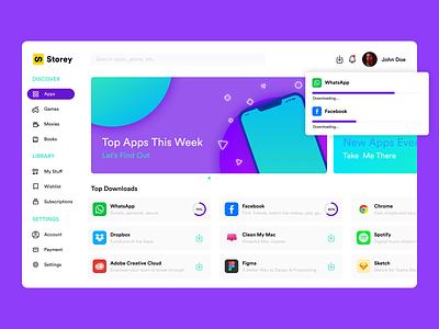 Storey Apps ui design