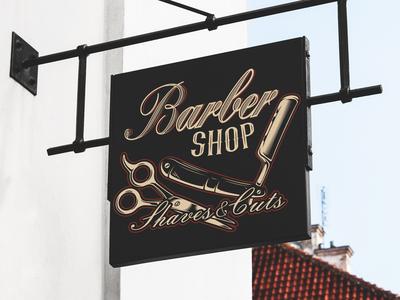 Illustration in vintage style for a barber shop