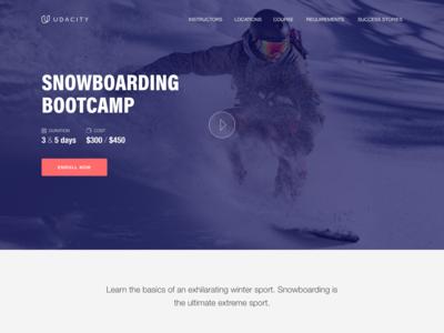 Snowboarding Bootcamp - Landing Page