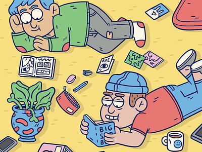Chilling Out - Auckland Zinefest zine illustration character cartoon