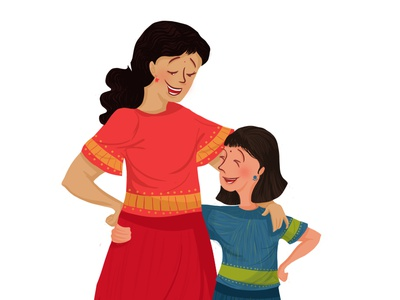 Sisters sisters digitalart digital illustrations india indian people indian characters kids illustration childhood childrens illustration digital illustration childrens book characterdesign