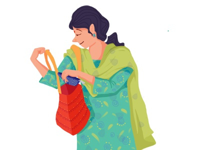 Lets go shopping! childhood illustrator childrens book picturebook kids illustration digital illustration illustraion digital art graphic characterdesign indian character design india mother indian mothers market grocery