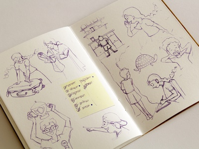 Sketchbook children illustration indian kids indian characters indian illustrator sketching traditional media paper pencils draw sketchbook sketch