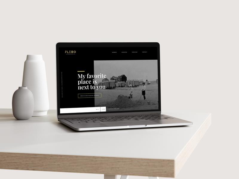 Flebo - Web design & logo design responsive design website website design webdesign logo design graphicdesign logodesign weblounge minimal realestate