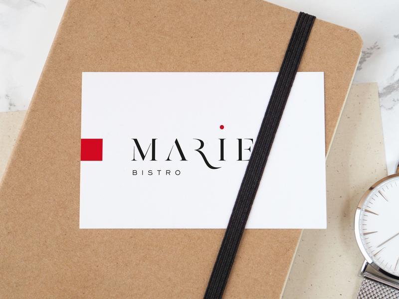 Logo and webdesign for Bistro Marie in Knokke food photography businesscard logo design graphicdesign weblounge restaurant design logodesign restaurant branding logo restaurant