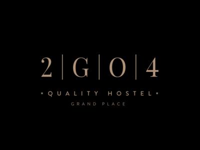 Logo 2GO4 branding belgium brussels hostel logo design graphicdesign weblounge logo logodesign