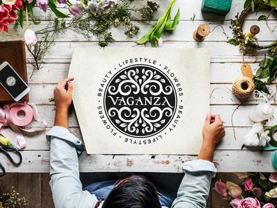 Logo Vaganza typography businesscard branding logo design graphicdesign weblounge logo logodesign