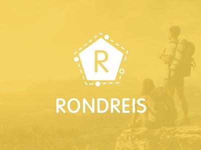Rondreis travel travel logo website design website businesscard branding webdesign logo design graphicdesign weblounge logo logodesign