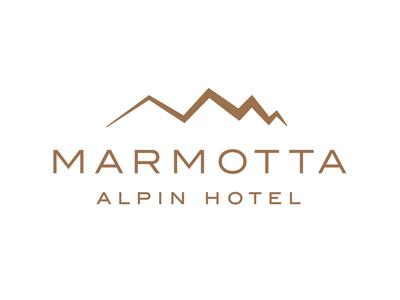 Marmotta Alpin Hotel in Austria website design website businesscard webdesign branding logo design graphicdesign weblounge logo logodesign
