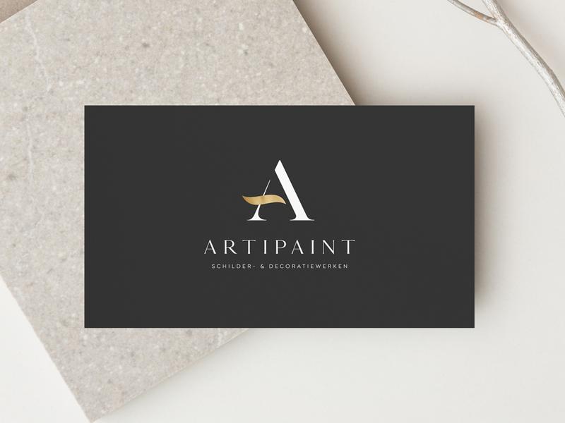 Logo design for Artipaint minimal businesscard branding logo design logo weblounge logodesign