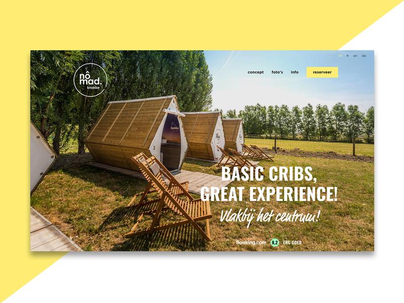 Webdesign for Nomad Knokke website design onepager onepage travel booking web design webdesign weblounge