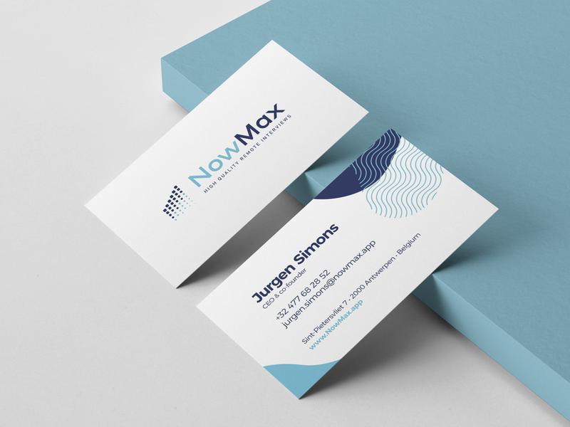 Business card and logo design for NowMax website businesscard website design logo design webdesign branding graphicdesign logo weblounge logodesign